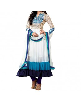 Designer Gorgeous White Georgette Salwar Suit - EF155