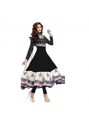 Designer Party Wear  Black Georgette Salwar Suit - EF153