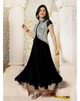 Party Wear Black Georgette Salwar Suit - EF123