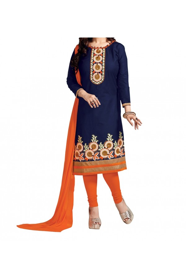 Party Wear Blue Georgette Salwar Suit - EF131