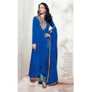 Party Wear Georgette Blue Palazzo Suit - 1001-B