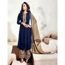 Party Wear Georgette Blue Palazzo Suit - 1003-A