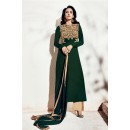 Party Wear Georgette Green Palazzo Suit - 1007-A