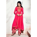 Party Wear Georgette Pink Palazzo Suit - 1001-A