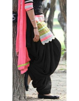 Party Wear Gorgeous Black Georgette Salwar Suit - EF148