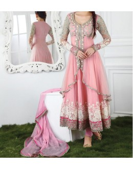 Party Wear Gorgeous Pink Georgette Salwar Suit - EF151