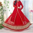 Party Wear Gorgeous Red Georgette Salwar Suit - EF136
