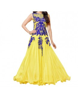 Party Wear Lemon Georgette Salwar Suit - EF098