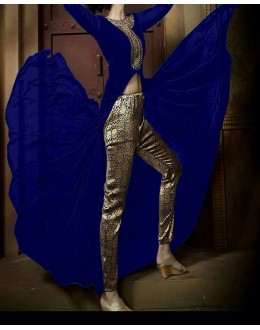 Party Wear Nikshi Blue Georgette Salwar Suit - EF1120