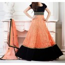 Party Wear Orange Georgette Salwar Suit - EF107