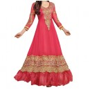 Party Wear Pink Georgette Salwar Suit - EF091