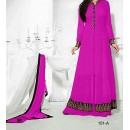 Party Wear Pink Georgette Salwar Suit - EF105