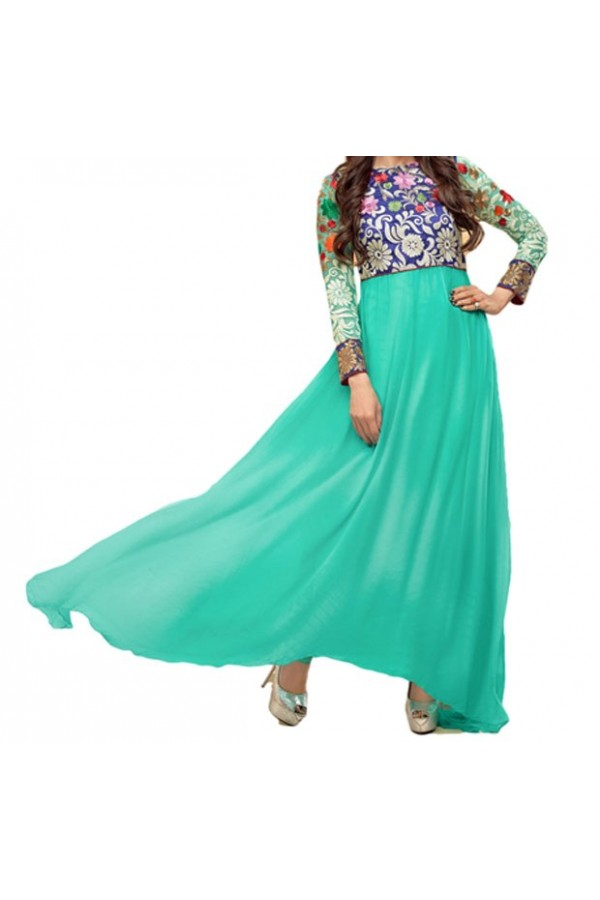 Party Wear Rama Georgette Salwar Suit - EF100