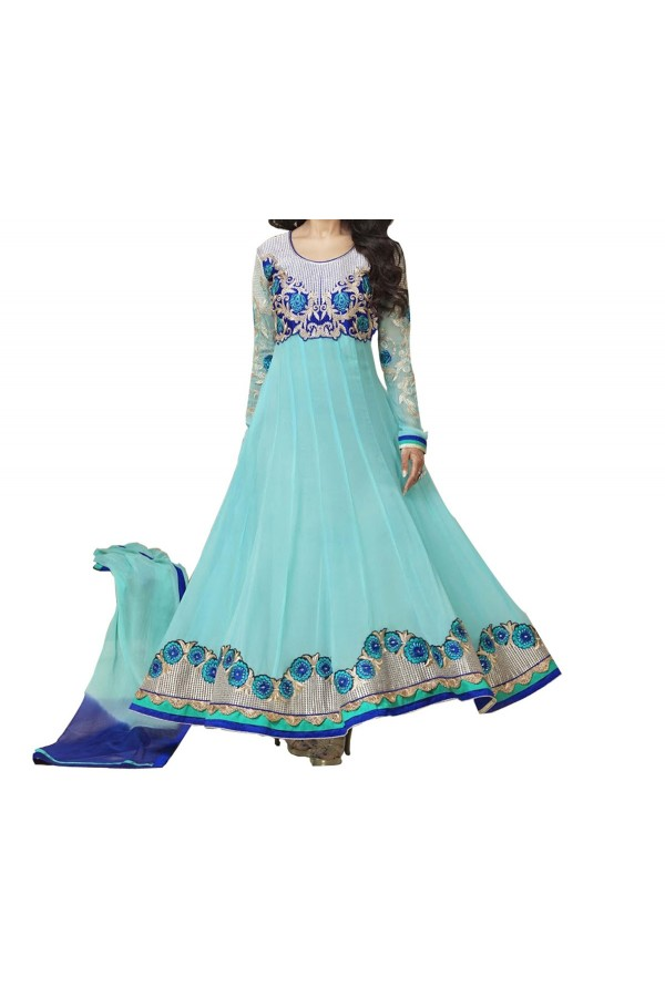 Party Wear Rama Georgette Salwar Suit - EF134
