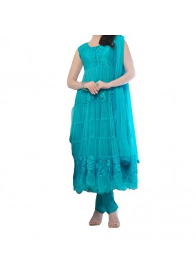 Party Wear Rama Net Salwar Suit - EF085