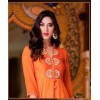 Designer Orange Embroidered Georgette Kurti - 2021 ( SS-Sajda-2021 )