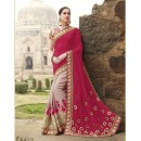 Party Wear Georgette CreamSaree - 2417