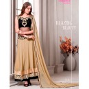 Party Wear Georgette Beige Anarkali Suit - D-102