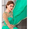 Party Wear Georgette Turquoise Anarkali Suit - D-106