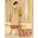 Designer Georgette Embroidered Party Wear Beige Salwar Suit - 3703 ( SS-Vipul-3701 )