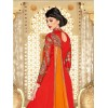 Designer Georgette Embroidered Party Wear Red Anarkali Suit - 3711 ( SS-Vipul-3701 )