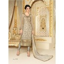 Designer Net Embroidered Party Wear Grey Salwar Suit - 3705 ( SS-Vipul-3701 )
