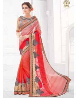 Festival Wear Multi-Colour Saree  - SASYA-2203