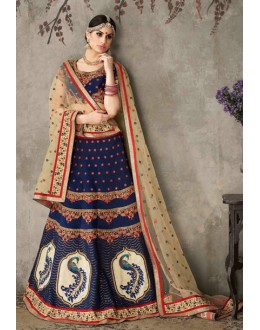 Traditional Blue & Beige Lehenga Choli - SASYA-2302