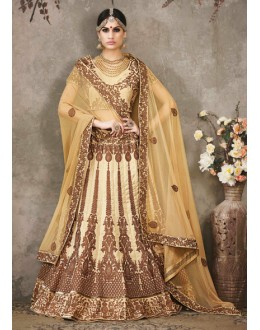 Wedding Wear Cream Lehenga Choli - SASYA-2304
