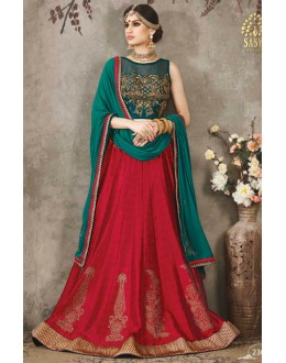 Ethnic Wear Red & Green Lehenga Choli - SASYA-2307