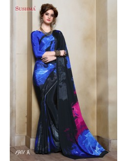 Ethnic Wear Multi-Colour Crepe Silk Saree  - SUSHMA-1901-A