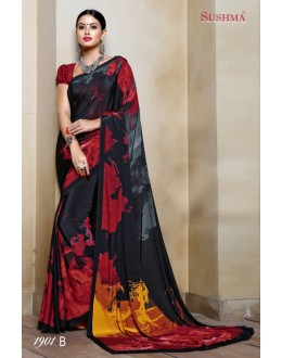 Festival Wear Multi-Colour Crepe Silk Saree  - SUSHMA-1901-B
