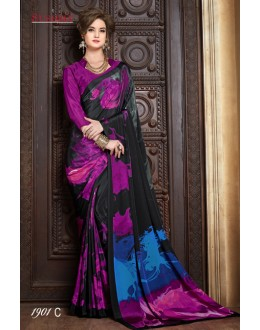 Casual Wear Multi-Colour Crepe Silk Saree  - SUSHMA-1901-C