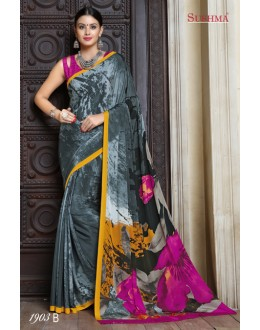 Multi-Colour Crepe Silk Saree  - SUSHMA-1903-B