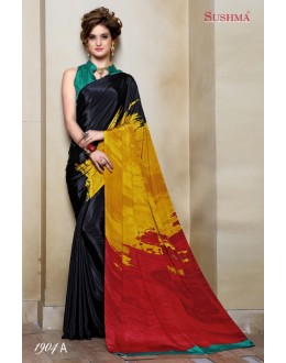 Casual Wear Multi-Colour Crepe Silk Saree  - SUSHMA-1904-A