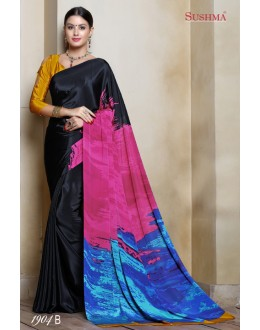Multi-Colour Crepe Silk Printed Saree  - SUSHMA-1904-B