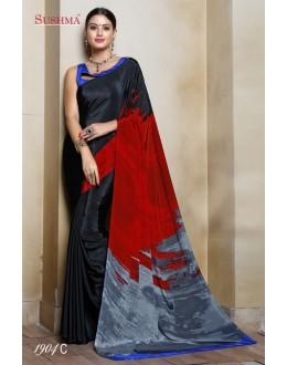 Crepe Silk Multi-Colour Printed Saree  - SUSHMA-1904-C