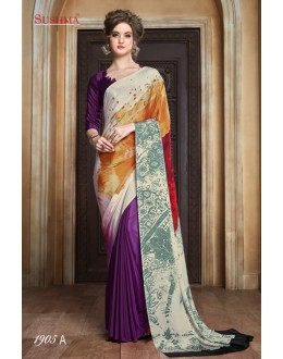 Ethnic Wear Multi-Colour Crepe Silk Saree  - SUSHMA-1905-A
