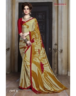 Party Wear Multi-Colour Crepe Silk Saree  - SUSHMA-1906-A
