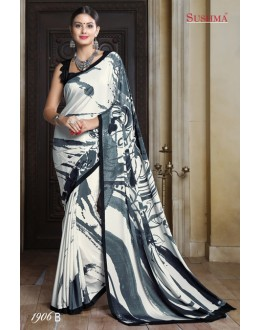 Ethnic Wear Multi-Colour Crepe Silk Saree  - SUSHMA-1906-B
