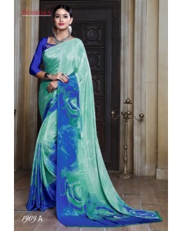 Party Wear Multi-Colour Crepe Silk Saree  - SUSHMA-1909-A