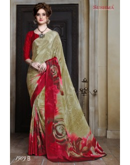 Festival Wear Multi-Colour Crepe Silk Saree  - SUSHMA-1909-B