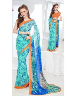Casual Wear Multicolour Georgette Saree - 702-A
