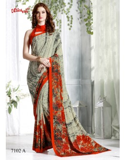 Ethnic Wear Multi-Colour Crepe Silk Saree  - 7102-A