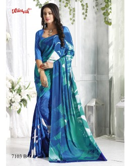 Ethnic Wear Multi-Colour Crepe Silk Saree  - 7103-B