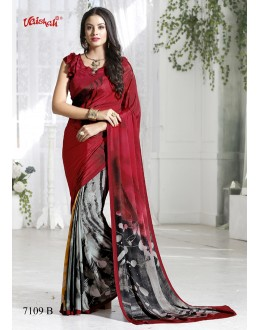 Ethnic Wear Multi-Colour Crepe Silk Saree  - 7109-B
