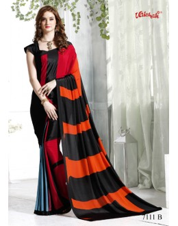 Ethnic Wear Multi-Colour Crepe Silk Saree  - 7112-B