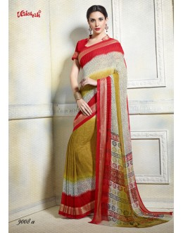 Casual Wear Multi-Colour Georgette Saree  - 9008-A