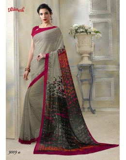 Beige Georgette Casual Wear Printed Saree  - 9009-A