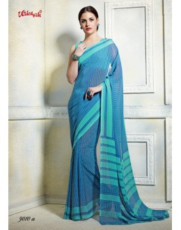 Ethnic Wear Sky Blue Georgette Saree  - 9010-A